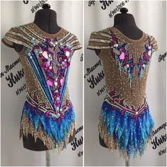 Rhythmic Gymnastics Costumes, Dance Outfits, Pattern Making, Dance Costumes, Dance Wear, Color Combos, Glamour, Couture, Sports