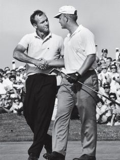 Golfer Jack Nicklaus and Arnold Palmer During National Open Tournament two of the best golfers to ever walk the earth in my opinion