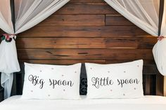 Big spoon Little Spoon Spooning Wedding or 2nd cotton anniversary gift for him her husband wife men couple pillow cases his hers anniversary (Set of 2)  Very romantic, funny and interesting gift Big spoon - little spoon, for him and her. Will decorate every bedroom and make it sweet, romantic and comfy with a little bit of fun! Great idea to say I Love You or to say what do you think :) If you search gift for 1st or 2nd year cotton anniversary for your husband, wife, her or his, or just for…
