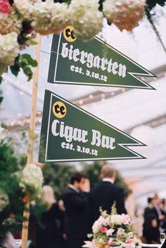Wedding decor! Banners. www.jwilkinsonco.com #photography #film #wedding #decor #theargyle