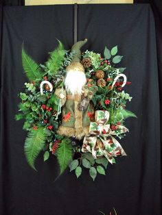 RING IN WINTER Christmas wreath Rustic Bell by adoorableflorals