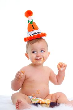 pumpkin birthday hat
