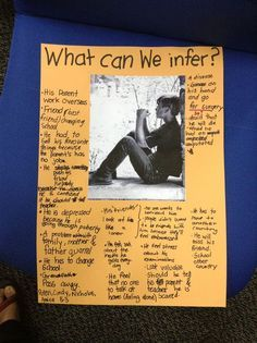 Inference through pictures - What a great idea…find a good picture, glue it on a large piece of construction paper and post on the board/wall. Kids can write inferences about the picture throughout the day…then discuss. Love this!