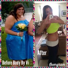 """""""Body By Vi has been a journey that has changed my life. I went from obese to obsessed. It's a simple lifestyle change...that I've made permanent."""" And we are so happy to support you on your journey! #TransformationTuesday"""