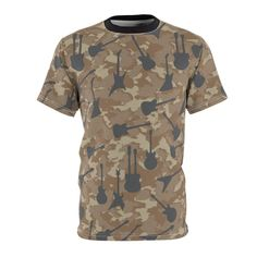 Items similar to Unisex AOP Cut & Sew Tee Guitar Camouflage from parachutethreads and six string razor on Etsy Quality T Shirts, Fabric Weights, Camouflage, Guitar, Sew, Etsy Shop, Unisex, Group, Board