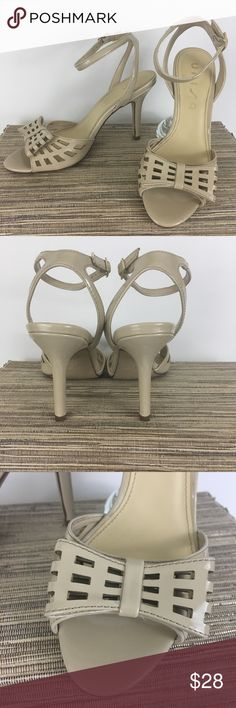 """Nude Bow Heels by Unisa Nude Bow Heels with ankle strap. Cute and fashionable! Heel height: 3  1/2"""" Unisa Shoes #tananklestrapsheels"""