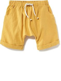 Cuffed Linen Shorts for Baby Product Image