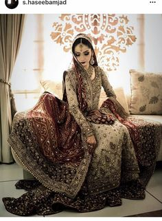 Pakistani wedding dresses and bridal Lehenga are so loved by everyone for their intricate designs and heavy embroidery. Asian Wedding Dress, Pakistani Wedding Outfits, Wedding Dresses For Girls, Pakistani Wedding Dresses, Bridal Outfits, Indian Dresses, Bridal Gowns, Pakistani Bridal Couture, Indian Bridal Fashion