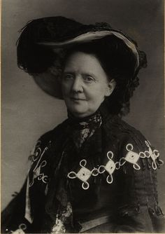 Fredrikke Marie Qvam (1843-1938), via Flickr.  Qvam founded the Norwegian Women's Health Association in 1896, the year this photo was taken; she worked hard for women's suffrage, workers' and women's rights in Norway.  Today there is a street named for her in Oslo.