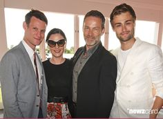 Anna Paquin and Stephen Moyer attended the Audi Polo Challenge 2015 at Cambridge County Polo Club on July 3, 2015 in Cambridge, England. Seen here with Matt Smith and Douglas Booth.