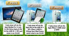 Win an iPad, Apple Macbook Pro & iPhone 5