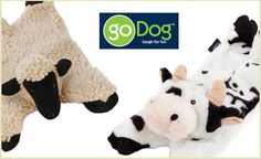 These Barnyard Buddies toys are great for squeaking and flapping around during playtime. With this deal, choose from either a lamb or a cow, both available in small and large. Each toy contains five squeakers, and the floppy, flat design that makes it great for tugging and tossing. Have fun on the farm with your pup with these great toys! $13