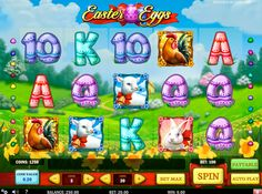 Play n Go a créé une machine à sous Easter Eggs dédiée à l'evenement  la plus importante du printemps - Pâques. Thématique personnages, des lapins, des poulets et des œufs de Pâques. Excellente ambiance et l'atmosphère de fête sont garantis!