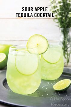 One sip of this Sour Apple Tequila Cocktail and you'll be hooked on its tart and refreshing flavor—who wouldn't be?! Check out the full recipe to discover what ingredients you'll need to whip this drink up for your friends this summer.