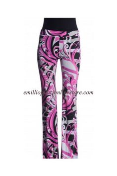 Emilio Pucci Pink Printed Crepe-jersey Flared Pants