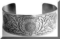 Scottish Thistle German-silver Bracelet