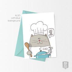 greeting card printing cat unicorn unicat birthday card