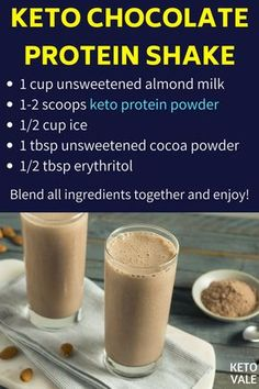 Best Keto Protein Powders to Make Your Protein Milkshakes and Smoothies What Are the Best Low-Carb and Ketogenic Protein Powders and Shakes?What Are the Best Low-Carb and Ketogenic Protein Powders and Shakes? Protein Milkshake, Low Carb Protein Shakes, Low Carb Protein Powder, Chocolate Protein Shakes, Keto Shakes, Protein Powder Recipes, Protein Shake Recipes, High Protein, Chocolate Shake