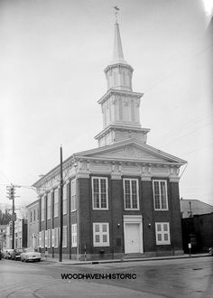 Cumberland Prebyterian Church Greeneville TN-1958  The church with a cannonball in it!  Still looks the same in 2013.
