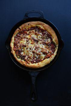 SIMPLE 45-minute Deep Dish Pizza  | Minimalist Baker