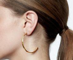b530b7382 Beautiful Sterling Silver Studded Hoops with 18ct Gold Plating | Maya Magal  London Maya Magal,