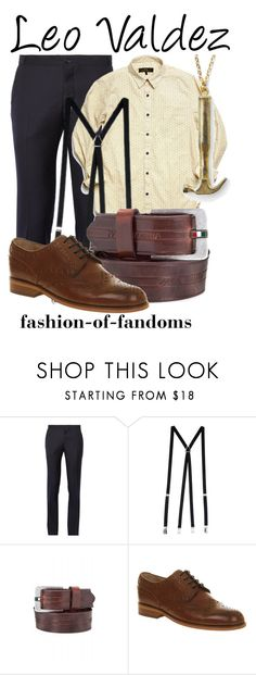 """""""Leo Valdez"""" by fofandoms ❤ liked on Polyvore featuring Thom Browne, American Apparel, Armani Jeans, women's clothing, women's fashion, women, female, woman, misses and juniors"""