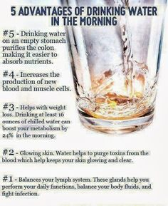 advantages of drinking water