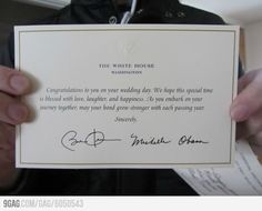 If you send your wedding invitation to the President...