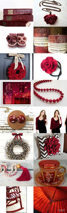 Cranberry Red by Linda Karen on Etsy--Pinned+with+TreasuryPin.com