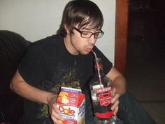 Vodka.  And straw.  YMMV.
