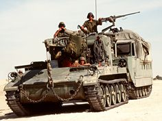 An light armored recovery vehicle tows an during Operation Desert Shield, 1 April Military Photos, Military History, Operation Desert Shield, Vietnam War Photos, Model Tanks, Armored Fighting Vehicle, Military Modelling, Battle Tank, Military Equipment