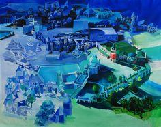 """#Pintura """"Volverse parte de ël""""  200 x 250 cm  Acrílico sobre canvas  Ana Abregú 2012"""