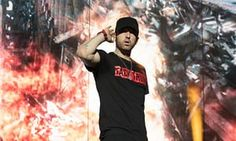 Eminem performs at Reading, the festival's twin site