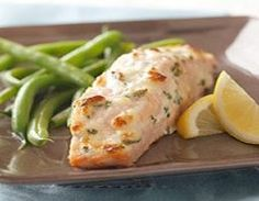 Baked Salmon Parmesan  - 4 Points Plus