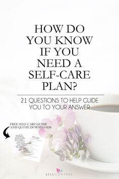 Learning to listen to yourself and give your body, mind and soul some much needed love and care is an important part of living your best life. Bring an awareness to your body and mind's need for a little TLC. Download the guide below and use the questions as a starting point to get yourself thinking about your self-care and what your needs are. Once you start thinking about it, your self-care needs will become clear. Click through to http://jillconyers.com to read the full article and…
