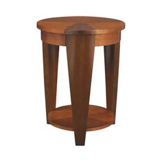 """Hammary Furniture - High Point, NC - CHAIRSIDES :: ROUND CHAIRSIDE TABLE T2003435-00.  18""""D X 24""""H."""