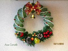 Диалоги Christmas Items, Christmas 2017, Christmas And New Year, Christmas Wreaths, Christmas Crafts, Straw Weaving, Paper Weaving, Basket Weaving, Paper Jewelry