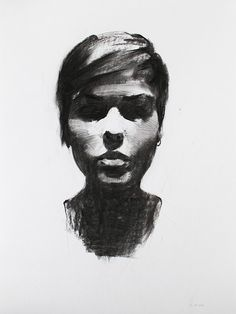 Charcoal Portrait by Mike Creighton