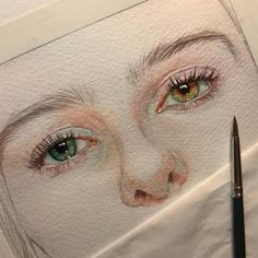 Reina Yamada is an artist who works actively in Japan and is the author of many works of watercolor art. The re-adaptation of watercolor paint. Pencil Art Drawings, Drawing Sketches, Drawing Ideas, Sketching, Watercolor Portraits, Watercolour, Drawing Portraits, Watercolor Artists, Watercolor Design