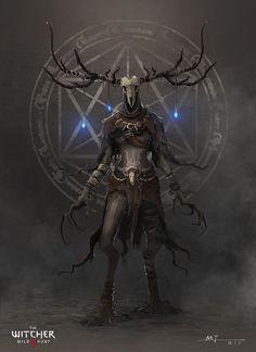Witcher by M - Jex on ArtStation Monster Concept Art, Fantasy Monster, Monster Art, Dark Creatures, Mythical Creatures Art, Arte Horror, Horror Art, Dark Fantasy Art, Le Wendigo