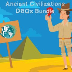 Lesson bundles are here!   Preparing units can be tiresome. Stop killing yourself with hours of research, lesson creations, and departmental meetings related to curriculum. Save yourself time and purchase our lessons in bundled packs! Our Ancient Civilization DBQ (document based question) bundle provides you with loads of engaging content related to    Mesopotamia  Egypt  India  China  Greece  Rome  Dark Ages   The Renaissance  Age of Exploration