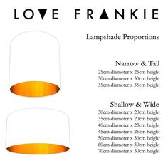 Lampshade proportions