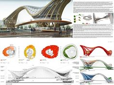 View full picture gallery of Footbridge Café/restaurant - Bike/Store Parametric Architecture, Cultural Architecture, Architecture Student, Futuristic Architecture, Architecture Design, Parametric Design, Origami Architecture, Huge Mansions, Amsterdam