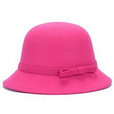 c59af64ee46c21 2015 Vogue Ladies Women Girls Vintage Wool Felt Bowler Derby Fedora Trilby  Bowknot Fedoras Hat Cap For Woman