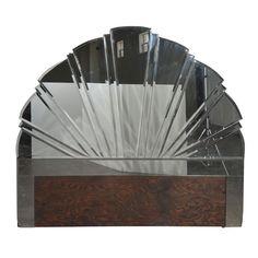 Art Deco Style Mirrored Headboard