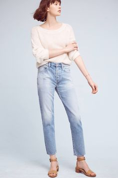 Slide View: 1: Citizens Of Humanity Liya Ultra High-Rise Ankle Jeans
