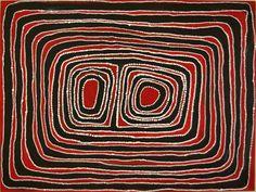 Jimmy Mawukura Mulgra Nerrimah, Killiy Jila, 2007, synthetic polymer paint on canvas, 120x90cm. Coo-ee Aboriginal Art Gallery, Bondi Beach.