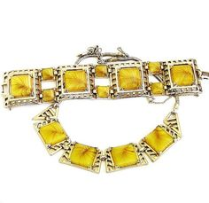 Retro Art Deco & Mid Century Vintage Yellow Rhinestone Jewelry.........ECOCHIC TEAM by MartiniMermaid on Etsy
