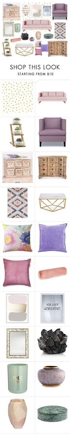 """""""Untitled #23"""" by sarashic-7 ❤ liked on Polyvore featuring interior, interiors, interior design, home, home decor, interior decorating, Gus* Modern, Williams-Sonoma, Dibor and Arteriors"""
