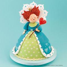 Could make in fondant for cake topper. Fondant Figures, Alice In Wonderland Cakes, Gateaux Cake, Fondant Toppers, Fashion Cakes, Sugar Craft, Girl Cakes, Cold Porcelain, Porcelain Tiles